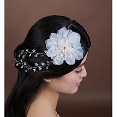 Femme Cristal / Tulle / Imitation de perle Casque-Mariage / Occasion spéciale Fleurs 1 Pièce