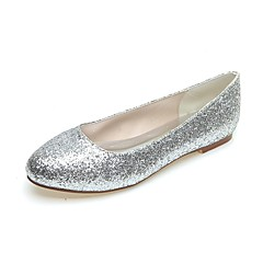Women's Spring / Summer / Fall / Winter Round Toe Glitter Party & Evening Flat Heel Black / Silver / Gold