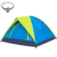 OSEAGLE 3-4 Pessoas Tenda Barracas de Acampar Leves Um Quarto Barraca de acampamento 1500-2000 mm Náilon Oxford TafetáÁ Prova de Humidade