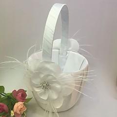 """Blumenkorb Satin 9"""" (23 cm) Kristallsteine Blütenblätter 1"""