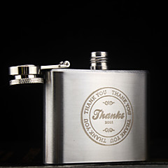 Personalized Stainless Steel Hip Flasks 2-oz Flask Thanks