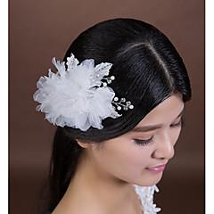 Donne Strass / Cristalli / Perle false / Chiffon / Tessuto Copricapo-Matrimonio / Occasioni speciali Fiori 1 pezzo