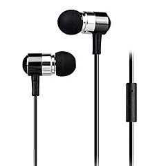 nye super bas hovedtelefon 3,5 mm i øret sikker pasform metalliske til iPhone 6 / iPhone 6 plus