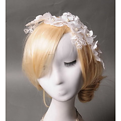 Femme Dentelle / Tulle / Imitation de perle / Tissu Casque-Mariage / Occasion spéciale / Décontracté Serre-tête 1 Pièce Ivoire