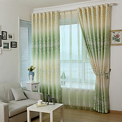 Country Curtains® Two Panels Green purple Floral Print Curtains Drapes