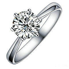Ring Women's Cubic Zirconia Alloy Alloy 6 / 7 / 8 / 9 Silver