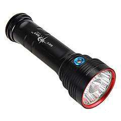 Lampes de poche LED 3 Mode 20000 Lumens Lumens Faisceau Ajustable Cree XM-L T6 18650Camping/Randonnée/Spéléologie / Usage quotidien /