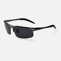Óculos de Sol Homens's Clássico / Leve / Esportivo / Polarized Enrole Preta / Prateada / Marrom / Cinzento Óculos de Sol Moldura Metade