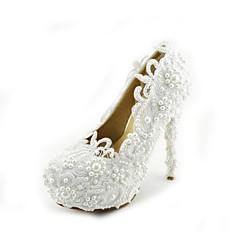 בלרינה\עקבים - נשים - נעלי חתונה - עקבים - חתונה / שמלה / מסיבה וערב - לבן