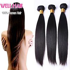peruanska jungfru hår 4st rakt människohår väver naturligt svart peruanska rakt hår 8-26 tum
