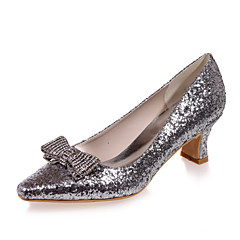Women's Shoes Glitter Spring / Summer / Fall Square Toe Wedding / Party & Evening Chunky Heel Black / Silver / Gold