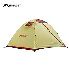 HIMAGET 2 persons Tent Double One Room Camping Tent 2000-3000 mm Oxford Polyester Taffeta AluminiumMoistureproof/Moisture Permeability