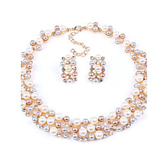 Conjunto de jóias Mulheres Aniversário / Casamento / Noivado / Presente / Festa / Diário Conjuntos de Joalharia Liga Imitação de Pérola