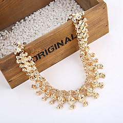 New Vintage Chunky Gold Plated Alloy Necklace Women Gold Chain Necklace
