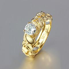 Dame Båndringe kostume smykker Guldbelagt 18K guld Smykker Til Bryllup Fest Daglig Afslappet