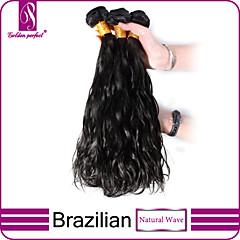 """3PCS / 많은 12 """"-30""""브라질 처녀 머리 자연 검정 자연 웨이브 인간의 머리 확장 머리를 엮어 번들 두꺼운&부드러운"""