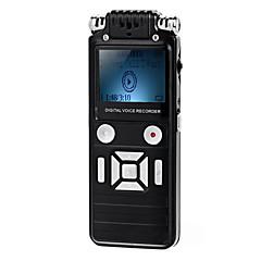 bruit professionnelle annulation mini-enregistreur vocal vor w / lecteur mp3 - noir (8 Go) + pouvoir réglementaire européen