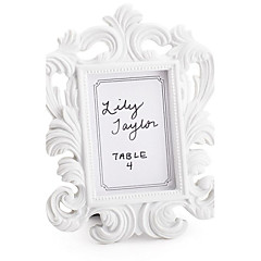 White Elegant Photo Frame/Place Card Holder Wedding Party Decoration