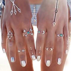 女性 ジュエリーセット 指輪 ターコイズ ファッション ターコイズ 合金 ジュエリー 用途 パーティー 日常 カジュアル