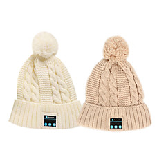 Warm Beanie Hat  Wireless Bluetooth Headset Music Caps Earphone with Speaker Mic For IPhone Sumsung  Cellphone