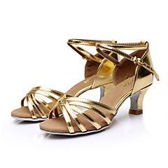 SUN LISA Customizable Women's Dance Shoes Latin / Salsa Satin Customized Heel Black / Brown / Silver / Leopard / Other