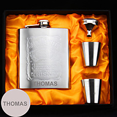 Bride / Groom / Bridesmaid / Groomsman Gifts-1 Piece/Set Flasks Modern Congratulations Stainless Steel Personalized Flasks Silver Gift Box
