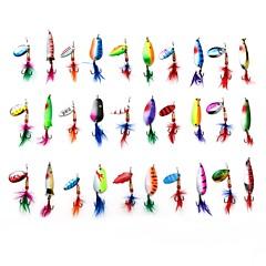 "30 stk Sluk Skjeer Fantom g/Unse,60-70 mm/2-3/8"" 2-11/16"" tommers,MetallSøfisking Isfikeri Spinne Ferskvannsfiskere Bass Fiske Lokke"