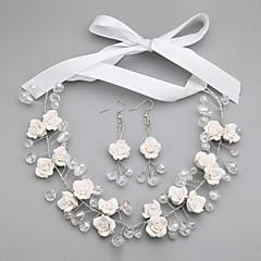 Conjunto de jóias Mulheres Aniversário / Casamento / Noivado / Presente / Festa / Ocasião Especial Conjuntos de Joalharia Liga Cristal