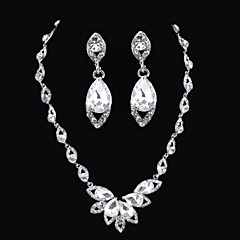 Conjunto de jóias Mulheres Aniversário / Casamento / Noivado / Presente / Diário / Ocasião Especial Conjuntos de Joalharia Liga / Strass