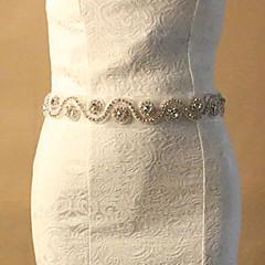 오간자 웨딩 / 파티/이브닝 창틀-크리스탈 / 모조 다이아몬드 여성 70 ¾인치(180cm) 크리스탈 / 모조 다이아몬드