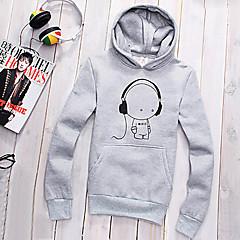 Informell / Business Kapuzenshirt - Langarm - MEN - Pullover mit / ohne Mützen ( Baumwolle )