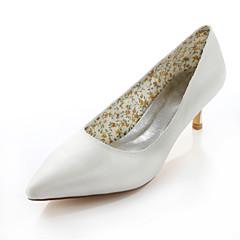 Women's Spring / Summer / Fall Heels / Pointed Toe Silk Wedding / Dress / Party & Evening Stiletto HeelBlack / Pink / Purple / Red /