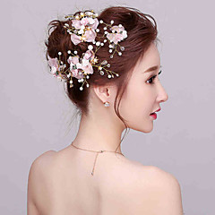 נשים נערת פרחים ריינסטון דמוי פנינה כיסוי ראש-חתונה אירוע מיוחד פרחים 4 חלקים