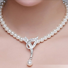 Anniversary / Wedding / Engagement / Birthday / Gift / Party  Necklace with Rhinestones/Pearls