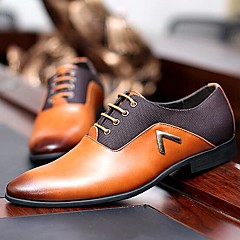 Men's Shoes Amir New Style Hot Sales Wedding / Office & Career / Party & Evening  Leather Oxfords Black/Brown/Orange