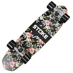 단풍나무 남성용 여성 아동용 남여 공용 표준 스케이트 보드 꽃패턴 Abec-9