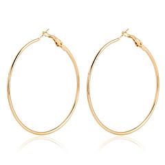 Damskie Kolczyki koła Kryształ Modny Europejski Wyrazista biżuteria biżuteria kostiumowa Pozłacane 18K złoty Circle Shape Biżuteria Na