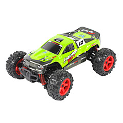 Buggy FQ777 9012 1:24 Brush Electric RC Car 45KM/H 2.4G Green / Orange Ready-To-GoRemote Control Car / Remote Controller/Transmitter /
