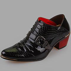 אוקספורד גברים של נעליים חתונה / משרד ועבודה / קז'ואל / מסיבה וערב עור פטנט שחור