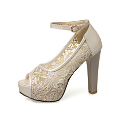 Women's Wedding Shoes Heels / Peep Toe / Platform / Comfort / Novelty / Round Toe / Open Toe SandalsWedding /