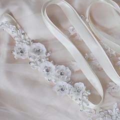 Satin Mariage Fête/Soirée Quotidien Ceinture-Paillettes Billes Appliques Perles Fleur Femme 250cm Paillettes Billes Appliques Perles Fleur