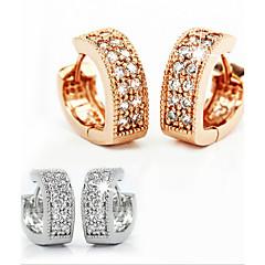 925 Silver Diamond V shaped ear clip