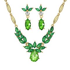 Elegant Colorful Rhinestone Wedding Jewelry Set