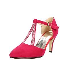 Women's Shoes Leatherette Stiletto Heel Heels Heels Wedding / Office & Career / Party & Evening Black / Blue