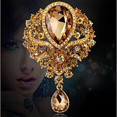 Feminino Broches Moda Jóias de Luxo Cristal Strass Jóias Para Casamento Festa Ocasião Especial Aniversário Diário