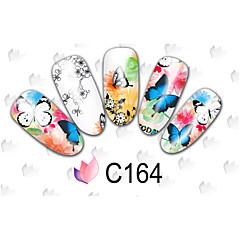 Tegneserie / Blomst / Smuk - Finger / Tå - 3D Negle Stickers - 15cm x 10cm x 5cm (5.91in x 3.94in x 1.97in) - 50PCS