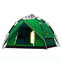 SHAMOCAMEL 3-4 osoby Stříška Dvojitý automatický stan jeden pokoj Camping Tent >3000mm Odolný vůči UV záření Odolný vůči větruModrá Tmavě