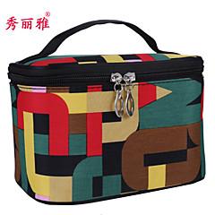 Makeup Storage Cosmetic Bag / Makeup Storage PVC Geometry Ellipse 19x13x12.5cm Red / Rose