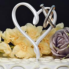 Tortenfiguren & Dekoration Nicht-personalisierte Herzen Harz Hochzeit Weiß Klassisches Thema 1 Geschenkbox
