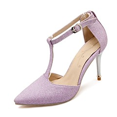 Women's Spring / Summer / Fall Heels Glitter Wedding / Dress / Party & Evening Stiletto Heel Black / Purple / Gray / Gold